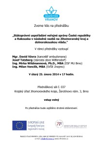 Pozvánka Regiony CZ-AT 25.unora 2014