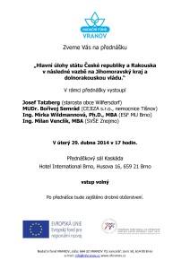 Pozvánka Regiony CZ 20140429